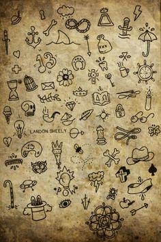 Finger tattoo ideas.. I see a few on my list ;)♡