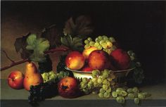 The Athenaeum - Still Life: Apples, Grapes, Pear (James Peale - )