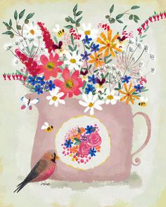 Rosy Pink Still Life by Joy Laforme