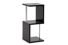 Baxton Studio Lindy Dark Brown Modern Display Shelf (2-Tier) | Wholesale Interiors