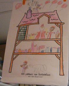 Teken het huis van Sinterklaas. Ook leuk voor achter o de weektaak.