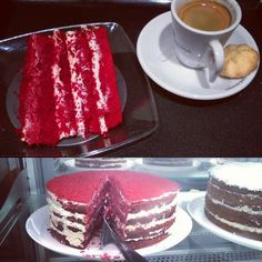Delícia é inaugurar o bolo #redvelvelt do @rogerioshimura que acaba de ser colocado à disposição  sabor e textura fresquinhos! #bolo #veludovermelho #confeitaria #cafe #cafezinho #sobremesa #rogerioshimura #shimura #shimurapaesedoces #shoppingcidadesp #depratosaprosas #doce #tentacao #creamcheese #cake #cakelover #redvelvetcake #dessert #coffee #espresso #coffeetime #coffeegram #cakegram #coffeelover