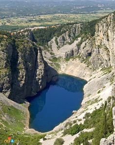 Modro jezero (the Blue Lake), Imotski, Croatia, a favourite bathing spot for the Imotski people, owes its name to its unique blue colour.