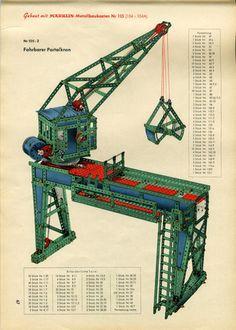 1954: Mein Beginn mit Märklin - Metallbaukasten: 100 Jahre alt - immer wieder neu 1950s Toys, Retro Toys, Vintage Toys, Corgi Toys, Hobby Toys, Model Building, Diesel Engine, Old Toys, Plastic Models