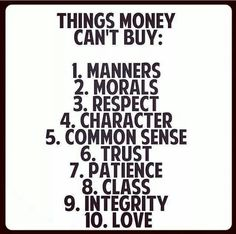 Things you can't buy!