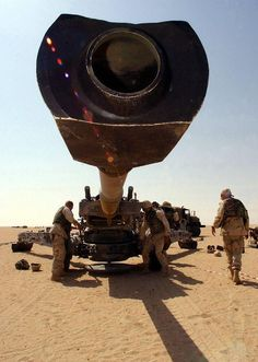 M-198 Howitzer field cannon before a firing exercise. TACTICAL NEWS MAGAZINE