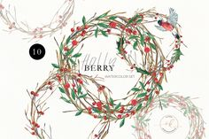 Christmas Watercolor Wreath, Poinsettia Holly Steams, Floral Clip Art Scarlet Pink Flower Clipart, Holiday christmas wreath christmas bundle by KoelschArtLab on Etsy Christmas Clipart, Pink Christmas, Christmas Holidays, Christmas Wreaths, Watercolor Clipart, Wreath Watercolor, Watercolor Christmas, Meadow Flowers, Pink Flowers