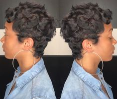 Pictures Of Short Haircuts, Girls Short Haircuts, Cute Hairstyles For Short Hair, Short Hair Cuts, Girl Hairstyles, Short Hair Styles, Pixie Cuts, Black Girl Hair Cuts, Black Hair