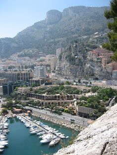Looking down on Monaco from the Royal Palace