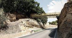 Kengo Kuma & Associates, salvator-john liotta · Passerella pedonale per collegare le aree del Tempio di Eracle e del Tempio di Zeus