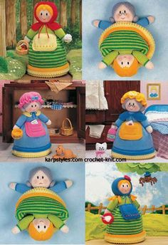 Jean Greenhowes Topsy-Turnabout Doll knitting pattern.