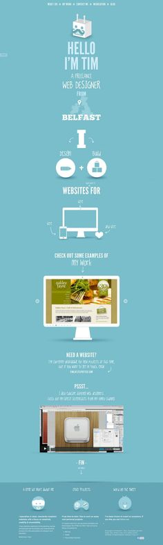 Webdesign Inspiration -- Portfolio of Tim Potter - Belfast Freelance Web Designer - Best website, web design inspiration showcase