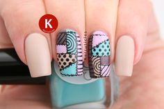 Patchwork Nails | 40 Great Nail Art Ideas | Kerruticles | Bloglovin'