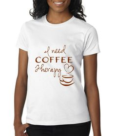Coffee Lovers SVG. Grab this Design before anyone else! This design makes the most Trendy Tshirts and Adored Rustic Kitchen Signs. This Coffee Therapy Quote will look great as part of any decor.  With this purchase, you will receive a Zip File folder containing this image in SVG, and PNG form.  This Digital SVG File can be used for Personal or Commercial Projects.  You can use this design in Scrap booking, Greeting Cards, TShirts, Pallet Signs, Glass Frames, Gifts and so much more.  This…