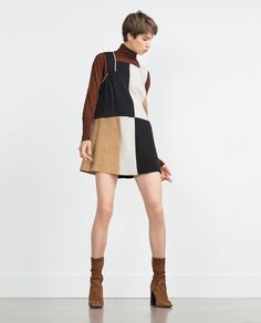 Image 1 of COLOR BLOCK DRESS from Zara