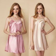 6fcfc5a7a Summer women s spaghetti strap nightgown sexy thin summer silk sleepwear  plus size silk viscose skirt Satin