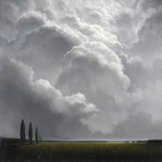 Soft clouds and lands . beautiful places to contemplate . James McLaughlin Way . Abstract Landscape, Landscape Paintings, Sky Painting, Wow Art, Le Far West, Sky And Clouds, Types Of Art, Terra, Belle Photo