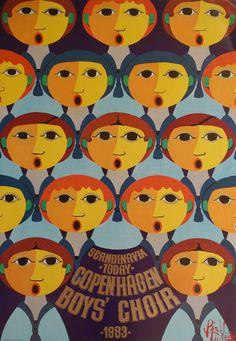 1983 Wiinblad Copenhagen Boys' Choir  Original by OutofCopenhagen