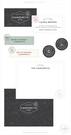 Canesmith & Co. By Salted Ink Design Co. | Logo Design, Retro, Throwback, Brand Design, Brand Stylist | by Saltedink.com