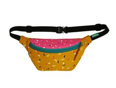 Colorful hip bag, little triangles pattern, bike bag, fanny pack - waterproof - cycling, traveling by lukola on Etsy