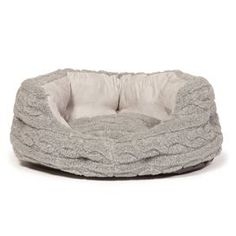 Bobble Pewter Deluxe Slumber Pet Bed. Love this Cable Knit Design, very in Vogue!