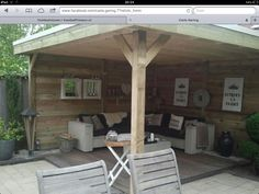 Overkapping 2013 on pinterest verandas met and lounges - Kleine prieel ...
