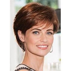 Elegant Side Bang Capless 100 Percent Human Hair Short Straight Wig For Women Cute Hairstyles For Short Hair, Bob Hairstyles, Curly Hair Styles, Short Hair Styles Thin, Stylish Hairstyles, Older Women Hairstyles, Pixie Haircuts, Formal Hairstyles, Short Hair With Layers