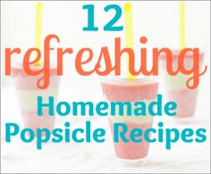 There are actually 12 amazingly unique popsicle recipes that are super-easy to make! Try out refreshing flavors like mint, pomegranate, lemon and more!