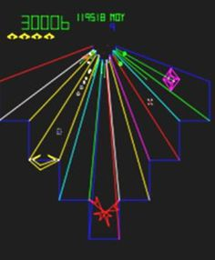 Atari Tempest Video Game: One dial, one button...Ahhh, the simpler days of gaming!