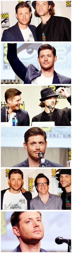 Jensen and Jared with Jeremy Carver at #SDCC14