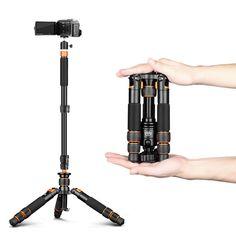 Portable Mini Tripod +Self Stick Monopod Desk Support For Camera DSLR phone kit #QZSD