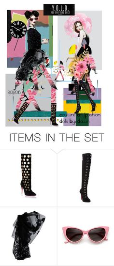 """""""Y O L O make it count!"""" by dawn-lindenberg ❤ liked on Polyvore featuring art"""