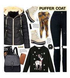 """""""Stay Warm: Puffer Coats"""" by beebeely-look ❤ liked on Polyvore featuring Topshop, Henné Organics, Winter, casual, casualoutfit, puffercoats and gamiss"""