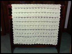 "Simply Stunning Baby Blanket, 31"" x 43.5"", $60."