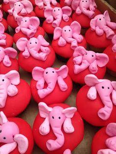 Pink Elephant Cupcakes