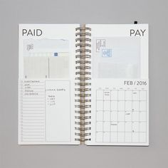 Image of 2016 Dated Bills Calendar