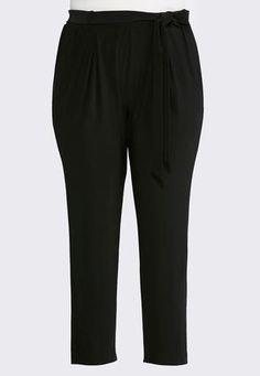 a4ddff8c86e Cato Fashions Belted Slim Leg Pants-Plus  CatoFashions Fashion Belts