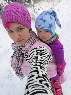 Winter babywearing - tips & suggestions 'what to wear' and 'how to keep your child and you warm' during the winter when babywearing! by Wrap you in love