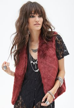 forever 21 fur vest - Google Search