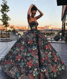 "(I really wish ""strapless"" gowns would have some form of strap. They usually look awkward- like this one"
