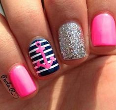 Pink glitter and anchors