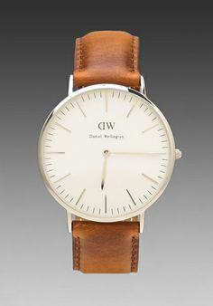 DANIEL WELLINGTON St Andrews 40mm in Silver - New