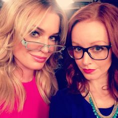 "#regram from the amazing @rebeccaaromijn ... Trying out our ""sexy librarian"" act... Tune in Sunday December 7 8pm/7ct on TNT #TheLibrarians"