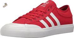 adidas Skateboarding Unisex Matchcourt ADV Scarlet/Footwear White/Gum Athletic Shoe - Adidas sneakers for women (*Amazon Partner-Link)