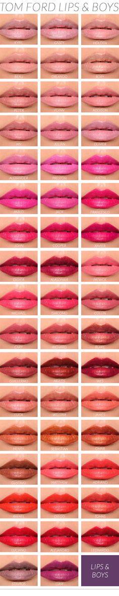 Tom Ford Lips & Boys Lip Swatches by Temptalia.