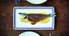 Whole fish entrées are not only impressive, but also easy on cleanup because they only involve one pan. Rub and roast branzino with a mixture olive oil, lemon juice and Maille White Wine Mustard with Lemon and Garlic and serve with a pan sauce using the same mustard and a touch of butter.