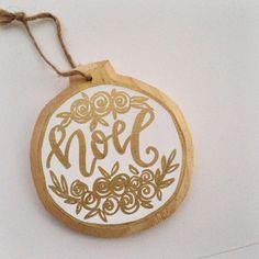 Christmas ornaments handmade, NOEL christmas decor, secret Santa gift idea @angeladavidsondesign in Instagram