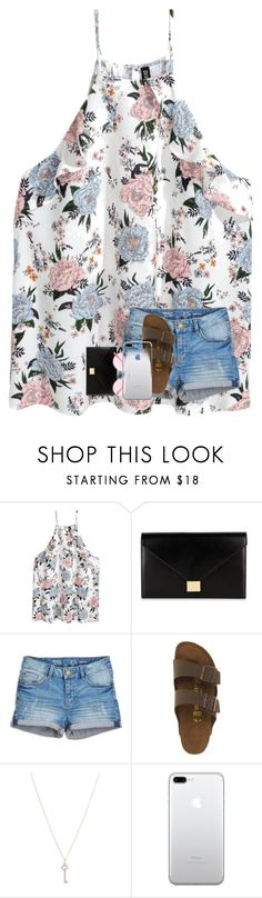 """""""so bored!"""" by jada-bug ❤ liked on Polyvore featuring H&M, Victoria Beckham, Birkenstock, Tiffany & Co. and Oliver Peoples"""