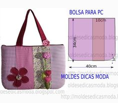 SAEDW .. Free tutorial or DIY pattern. Make your own padded tote bag. Spanish or Portugese speaking blog with translate function. MANY free patterns & tutorials here.