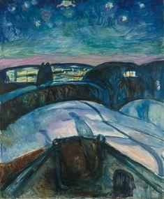 Edvard Munch, Starry Night, 1922. Munch Museum,Oslo.